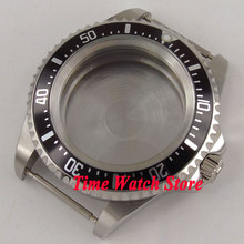 42mm black aluminum alloy bezel 316L stainless steel watch case fit ETA 2824 2836 MIYOTA 8215 movement C134