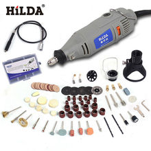 HILDA 220V 150W with 99pcs Accessories Electric Rotary Tool Variable Speed Mini Drill with Flexible Shaft Power Tools