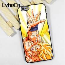 LvheCn phone case cover fit for iPhone 4 4s 5 5s 5c SE 6 6s 7 8 plus X ipod touch 4 5 6 Dragon Ball Z Super Saiyan Power(China)