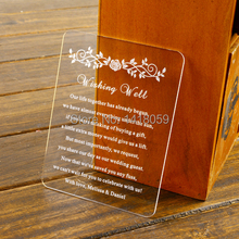 50pcs Personalised Engraved Roses Acrylic mini Save the Date Wedding Stationary,Wish well cards ,RSVP cards