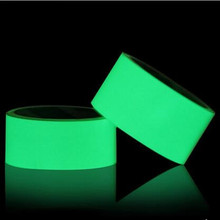 5cmx5m PET Luminescent Film DIY Glowing Lumious tapes Waring stripes Night lighting emergency lines wall sticker vinyl sticker(China)