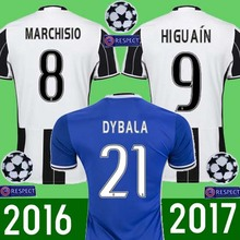 tt Hot sales 2017 Top Best Qualit Juventuses Soccer jersey Adult shirt 16 17 Home Away 3RD 16 17 men shirt FREE PATCHES088