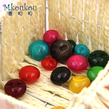 10pcs/lot 18&23&25&30MM multi-colored resin button for women children clothes,coat,outwear polish imitation of jade buttons Z317
