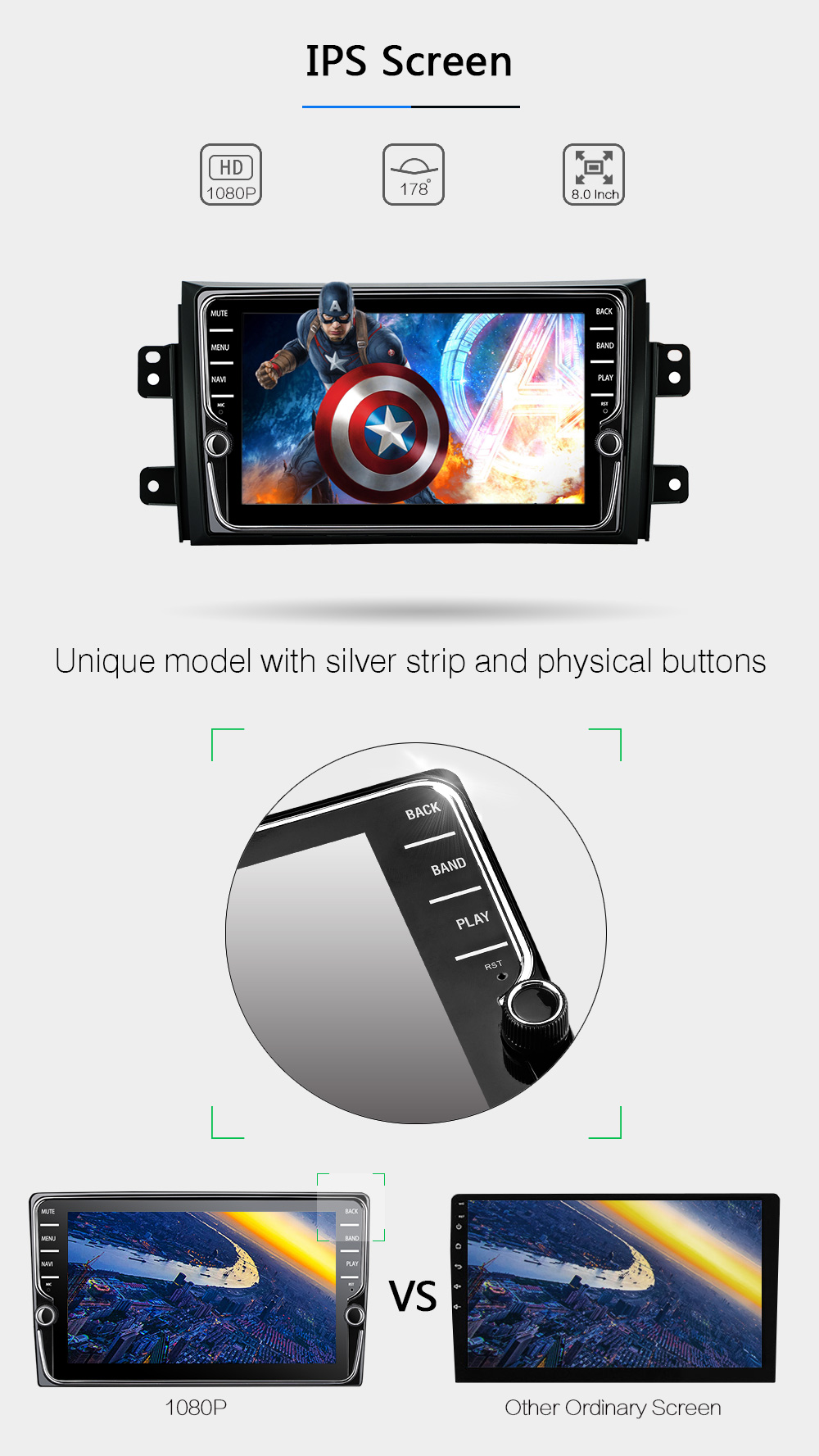 GreenYi Android 8.0 8 Core 4G RAM Car DVD GPS For SUZUKI SX4 2006 2007 2008 2009 2010 2011 2012 WIFI Autoradio Multimedia Stereo