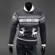 2017 Christmas New Autumn Fashion Brand Casual Sweater O-Neck  Slim Fit Knitting Mens Sweaters And Pullovers Men Pullover Men