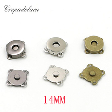 10sets 1.4cm Metal magnetic Buckle clothes DIY Needlework Sewing Supplies handmade Bag purse hand sewing buttons botones LW0363(China)