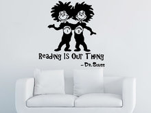 Reading Is Our Thing Mural Quotes Sayings Children Room Art Decor Wall Sticker Dr Seuss Vinyl Decal Quote Wallpaper Y-878