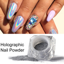Ellwings Glitter Holo Rainbow Powder Nail Art Decorations Chrome Dust Holographic Laser Nail Manicure Nail Gel(China)