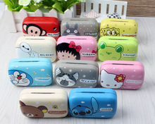 LIUSVENTINA cute Totoro bear Doraemon cat baymax Stitch companion box leather box 11 types contact lens case lenses container