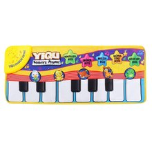 YIQU Baby toys Musical Touch Keyboard Singing Carpet Mat Funny Animal Piano Toy(China)