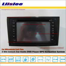 Liislee For Mitsubishi Colt Plus 2007~2012 Radio CD DVD Player GPS Navi Navigation System Double Din Car Audio Installation Set(China)