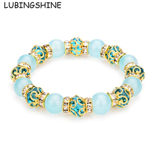 Buy LUBINGSHINE Crystal Natural Stone Beads Bracelet Bangles Charms Strand Bracelets Women Handmade Elastic Wrist Jewelry for $1.09 in AliExpress store