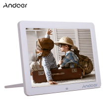 "Andoer 12"" HD LED Electronic Digital Photo Frame 1280*800 with Remote Control with Clock Calendar MP3 MP4 Movie Player Function"
