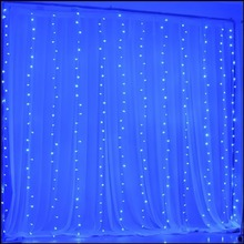 8 Modes Memory Controller 3*3m 300LED Curtain icicle Lighting Outdoor Xmas Home garden holiday party with free shipping Kmashi(China)