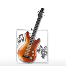 Tooarts Abstract Moder sculpture Guitar Hanging Ornament Home Decor Wall Hangings Decor Music Instrument Craft Gift(China)