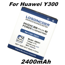 LOSONCOER HB5V1 2400mAh Battery For Huawei Y300 / Y300C / Y511 / Y500 / T8833 global free shipping with Tracking number