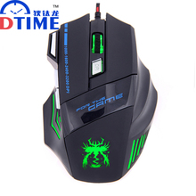 DTIME 7 Buttons 3500DPI Led Lights Optical Wired USB Gaming Gamer Mouse Mice Mause For Laptop PC Computer Dota 2 Bloody CS CF(China)