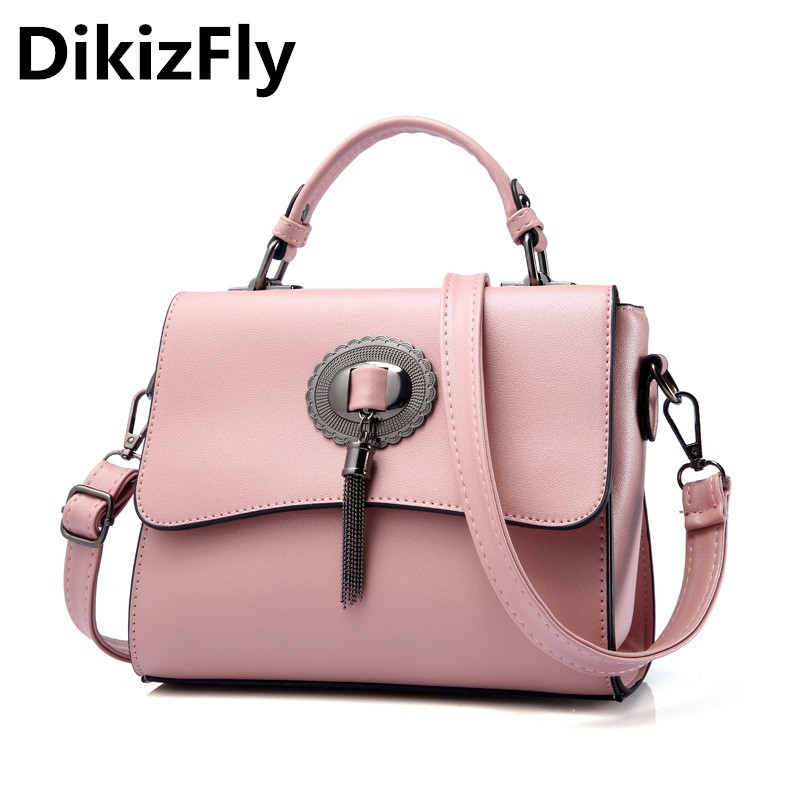 DikizFly Popular Fashion Brand Design Women bags Shoulder handbags Tassel 6 Colors Crossbody Bag Totes High Quality Bolsos Mujer<br>