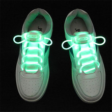 HOT 1 Pair Led Light Glow Shoelace Glow Stick Flashing Colored Neon Shoelace Luminous Laces Party()