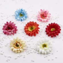 2pcs/lot  7.5cm Silk Artificial Chrysanthemum Flowers For Wedding Home Cloth Decoration Daisy Scrapbooking Craft Accessories Flo