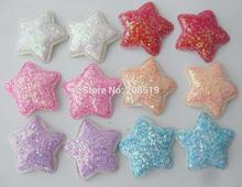 PANVVA Fresh colorful glitter star patches for hairclips 120pcs 34MM DIY star appliques garment accessories(China)