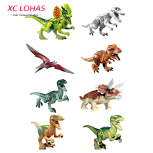 8 pcs / lot Educational Dinosaur Toys DIY Dinosaur Blocks Assemble Toys For Children Kids Birthday Gifts Fast Shipping(China)