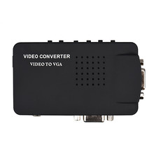 Composite AV/S Video To VGA TV Converter Monitor Adapter Box for PC Laptop(China)
