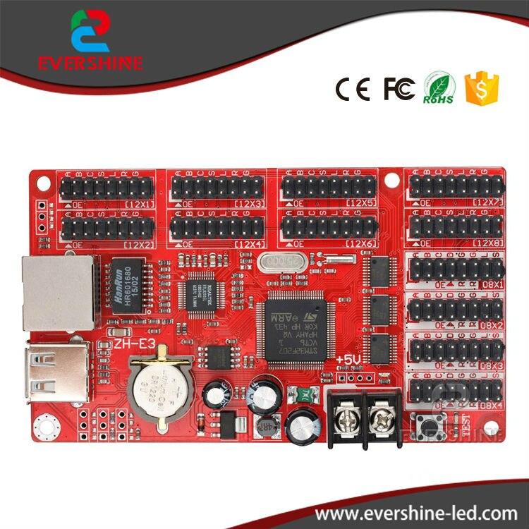 ZH-E3 Network+USB Port 4*HUB08 &amp; 8*HUB12 1024*48 Pixels Single &amp; Dual color LED Display Controller Card<br><br>Aliexpress
