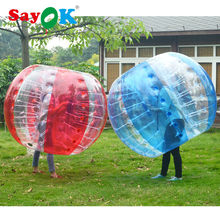 free shipping 0.7mm TPU inflatable human sized 1.2m red plastic soccer bubble football glass ball wholesales for entertainment