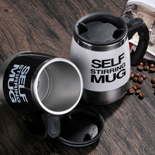 Stainless Steel Automatic Coffee Mixing Cup with Lid Self Stirring Mug Protein Shaker Multifunction Smart Mixer Blender Cup(China)