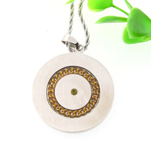 IN STOCK ! scalar energy pendant Gold Plating Necklace For Men Women Health Care anion powder negative ion Pendant Necklaces