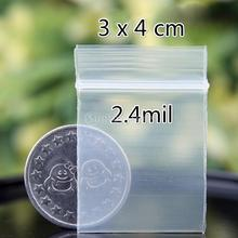 100pcs  2.4mil / 4mil Clear Zip Bag Ziplock Bag Plastic Baggies Reclosable Poly Bags