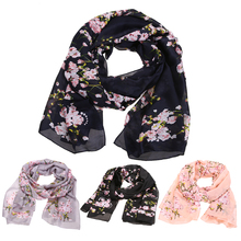 2016 Fashion bandana Luxury Print Flower Women Scarve 100% Silk Scarf Women Shawl High Quality Super Warm Scarf Hot Sale  DM#6