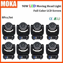 8 Pcs/lot 90W SPOT led moving head light Gobo Washer 4in1 rgbw Stage Dj Light DMX 512 for Party KTV Club Wedding DJ disco(China)