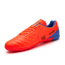 Best Selling Football Turf Shoes Size 37-44 Indoor Soccer Sneakers Football Trainers Men Leather Football Boots Cleats Cheap(China)