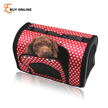 E Buy Online Mobile Pet Bed Small,Pet Carrier,Soft Sided Cat Carrier,Safe Car Seat With Mesh Dome Top Pet Puppy Products Outdoor(China)