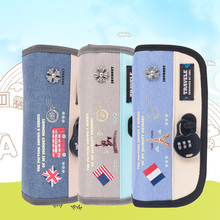 large capacity national flag canvas pencil bag pencil case children school pencil bag cosmetic bags 3 colors Kids Gift