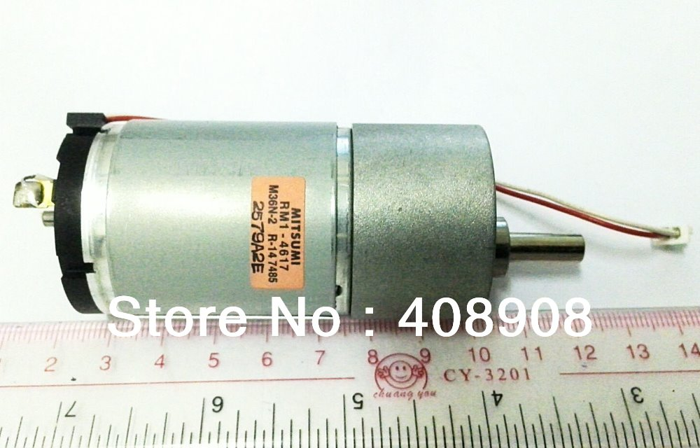 37 mm Diameter 12V RPM/35RPM low noise, reversible Torque Gear Box DC Motor for Drive Control  by HK or SG Post<br>