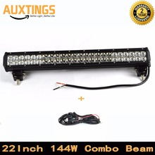 "FREE SHIPPING IP67 11520-14400LM 22"" inch 144W WATT led light bar offroad COMBO Beam led driving light 12v car lightbar(China)"