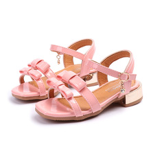 Buy COZULMA Kids Bowtie Peep Toe Roman Sandals Girls Summer Princess beach Shoes Children Gladiator Sandals Size 26-36 for $9.90 in AliExpress store