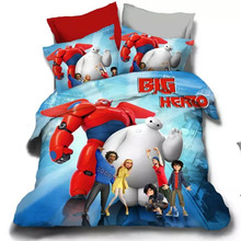 100%cotton Super Marines Bedding Sets 4pcs/3pc Elsa Anna Bedclothes Quilt Cover Bed line set Full/Queen Kids Bedding Bed Sheets
