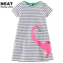 Retail NEAT Girls Dress Cartoon Baby Girl Princess Dresses New Short Sleeve Children Clothing Nova Girls Clothes MS0230 Mix