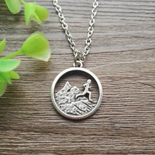 1pcs runner boy charm mountains running pendant trail running outdoors nature hiking comping jewelry SanLan(China)