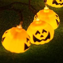 LED Pumpkin Fairy String battery operated for Halloween Lighting Garden Events Lamp Hanging lantern props Party Decoration25