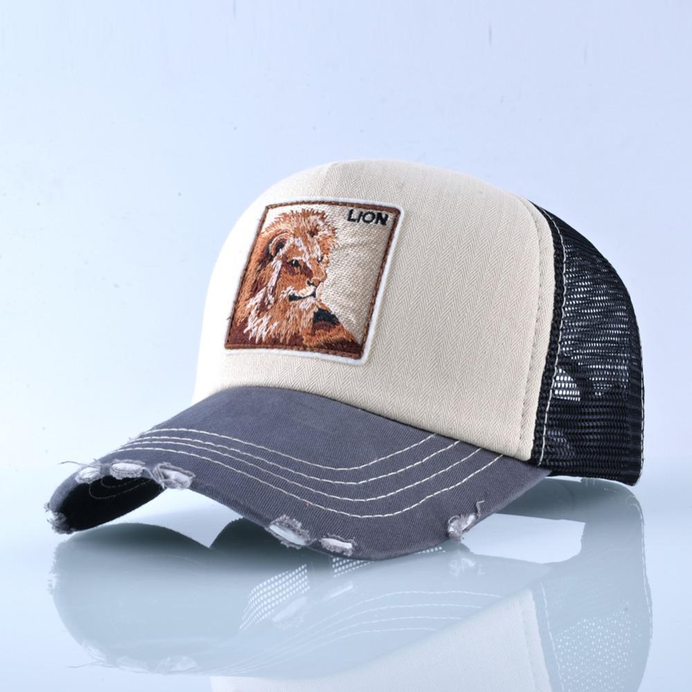 Fashion Unisex Patch Bones Wolf Embroidery Hip Hop Hats Breathable Mesh Baseball Caps Men Women Casquette Summer Trucker Gorras 10