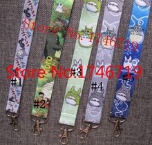 Free Shipping 50 Pcs Popular My Neighbor Totoro key chains Mobile Phone Neck Straps Keys Camera ID Card Lanyard  W73