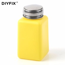 DIYFIX 180ML Empty Pump Dispenser Liquid Alcohol Press Bottle Polish Cleaner Remover Tools(China)