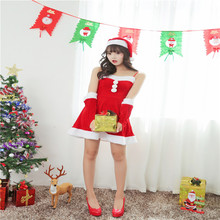 2016 New Women Christmas Dress Sexy Ladies Red Santa Costume Women Mrs Party Fancy Autumn Winter Dress Cosplay