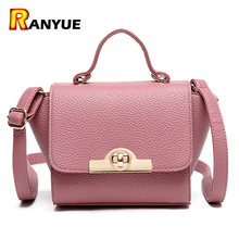 Famous Brand Trapeze Bag Pink Women Leather Handbags Luxury Twist Lock Shoulder Bag Small Messenger Crossbody Bags For Women Sac