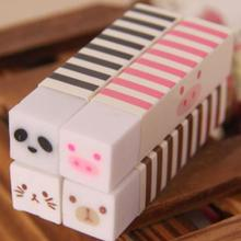Jonvon Satone Cute Erasers Adorable Cartoon Gomme Strip White Stripe Series Main South Korea Stationery Eraser School Supplies(China)